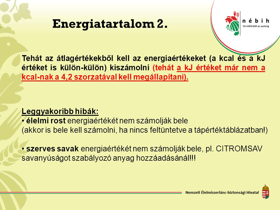 Energiatartalom 2.