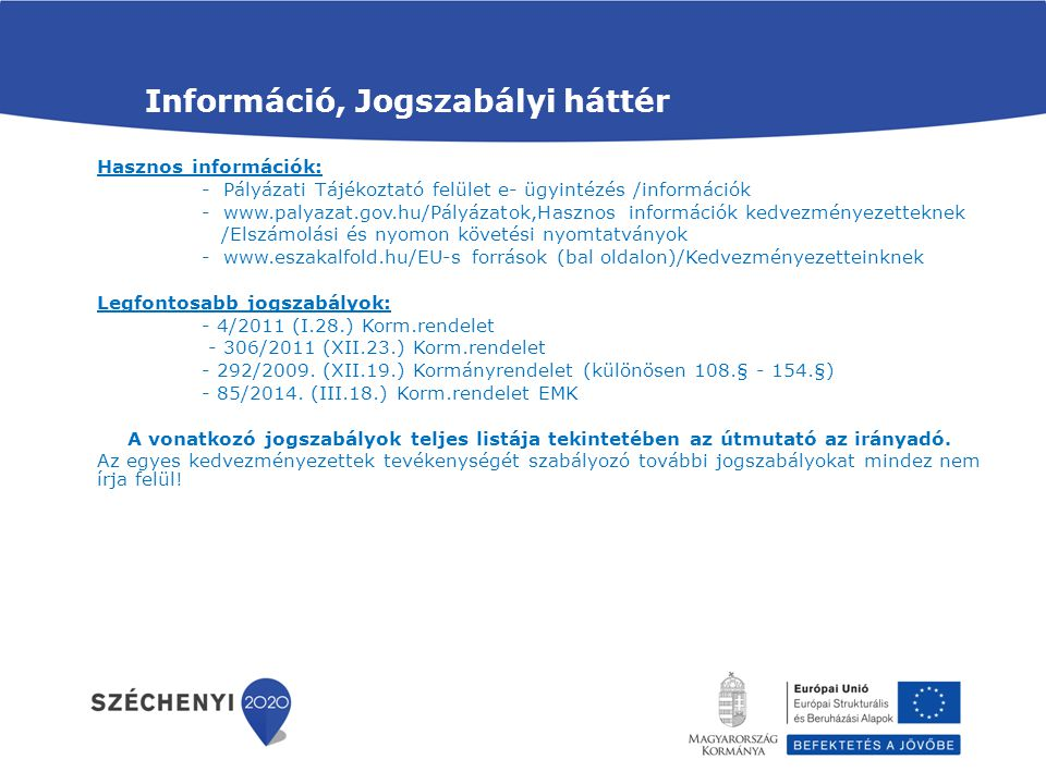 Információ, Jogszabályi háttér