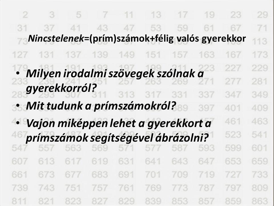 Nincstelenek=(prím)számok+félig valós gyerekkor