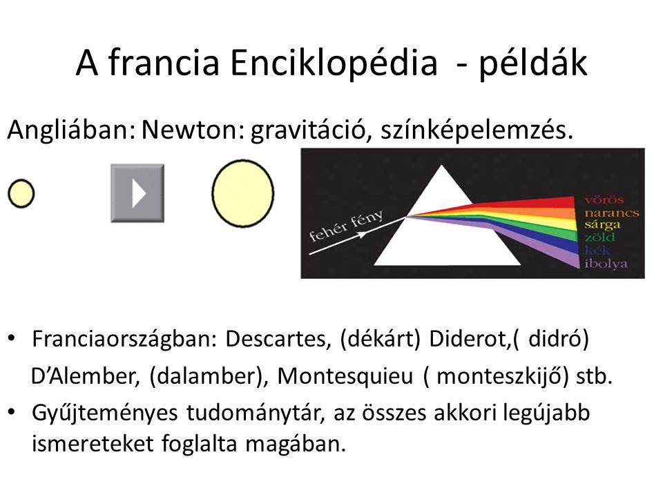 A francia Enciklopédia - példák