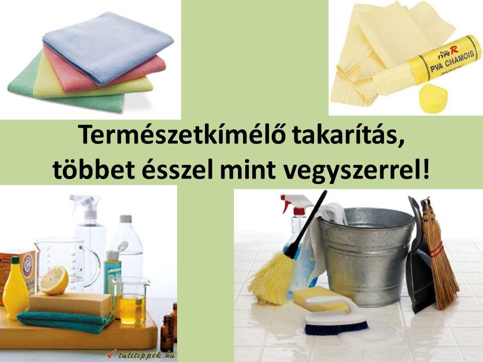Természetkímélő takarítás, többet ésszel mint vegyszerrel!
