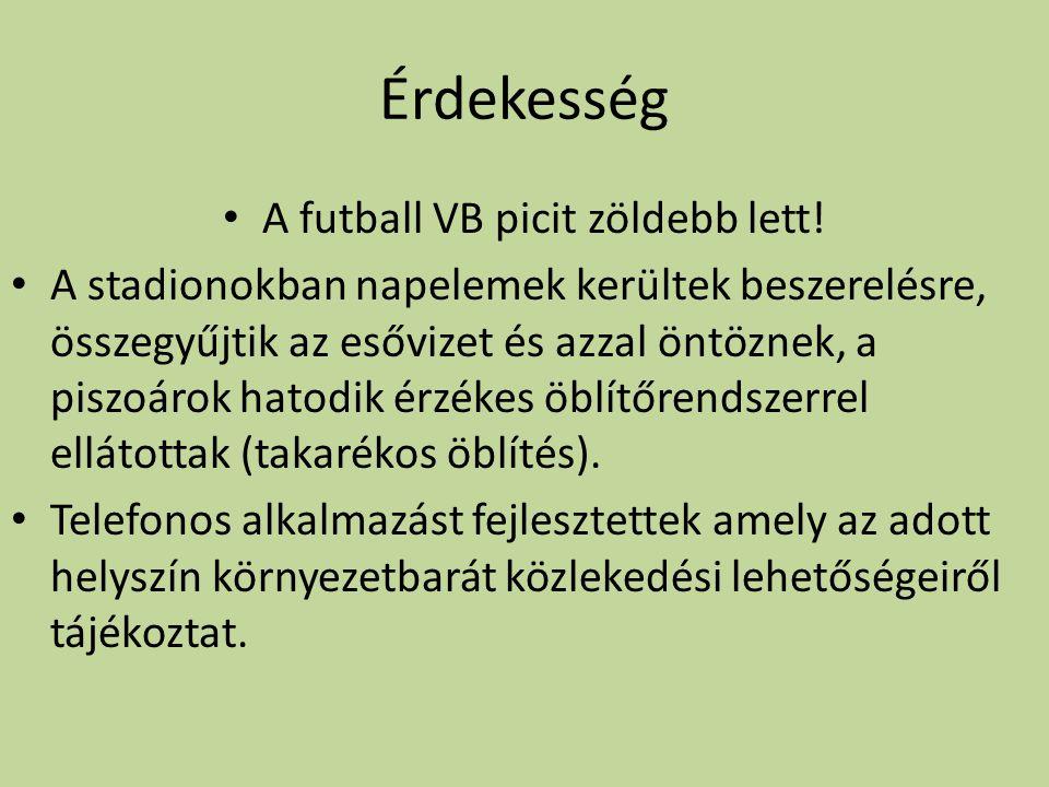 A futball VB picit zöldebb lett!