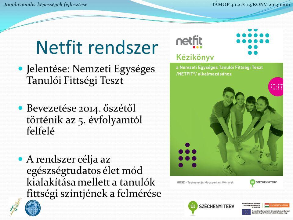 Netfit rendszer Jelentése: Nemzeti Egységes Tanulói Fittségi Teszt