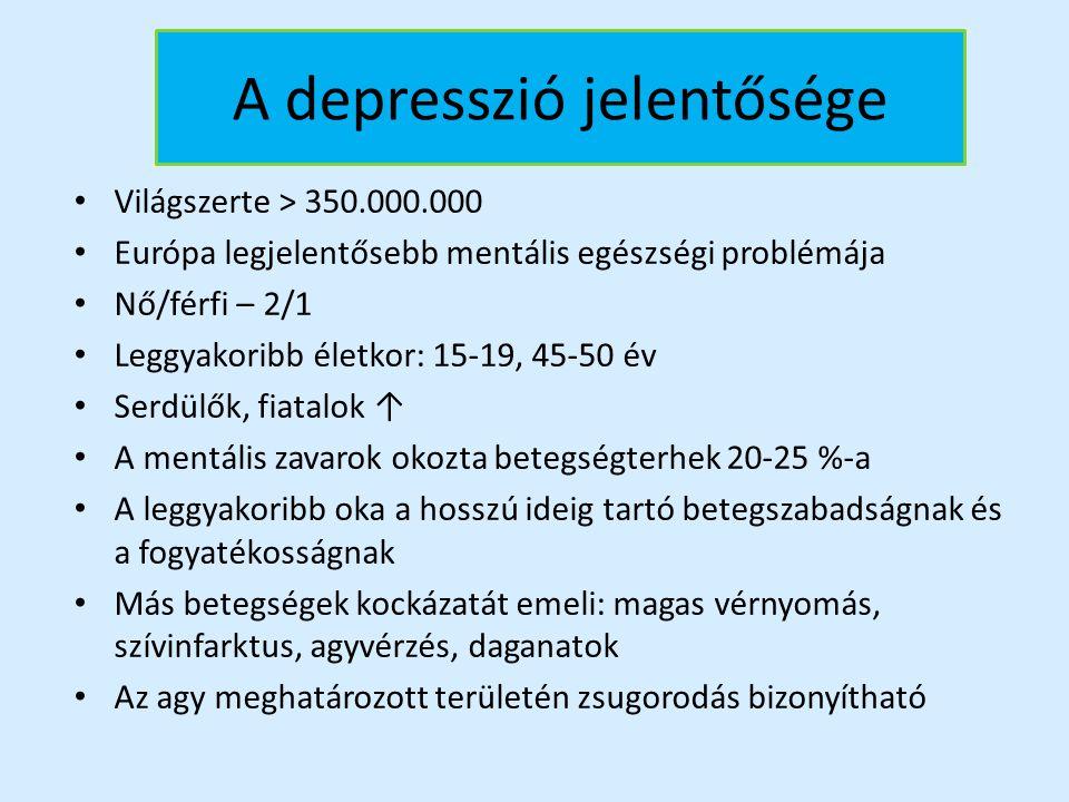 A depresszió jelentősége