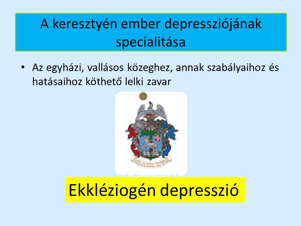 A keresztyén ember depressziójának specialitása