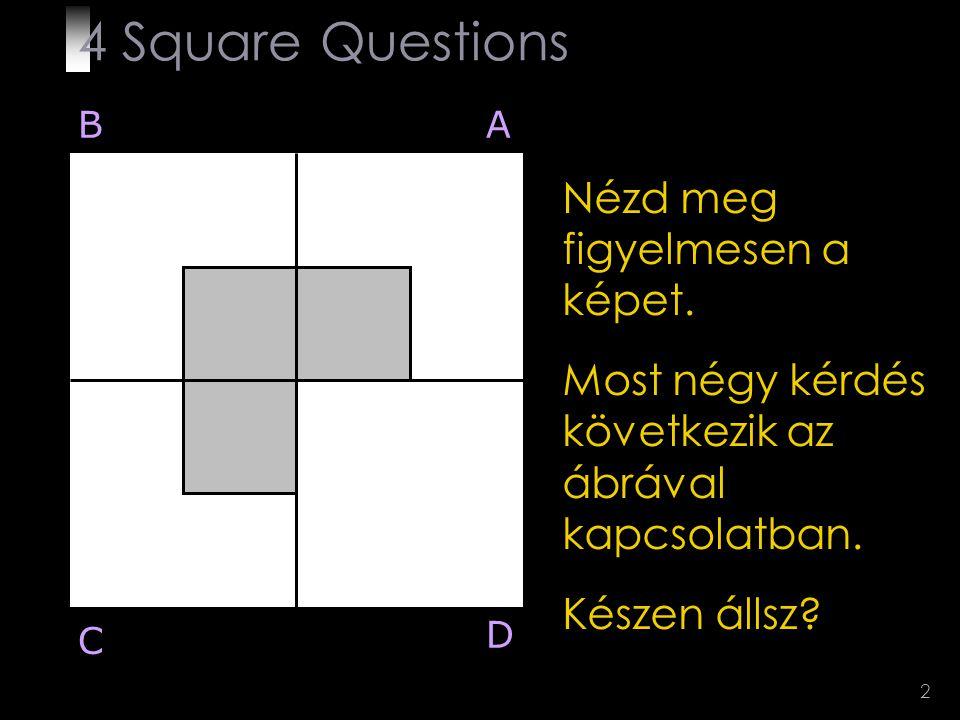 4 Square Questions Nézd meg figyelmesen a képet.