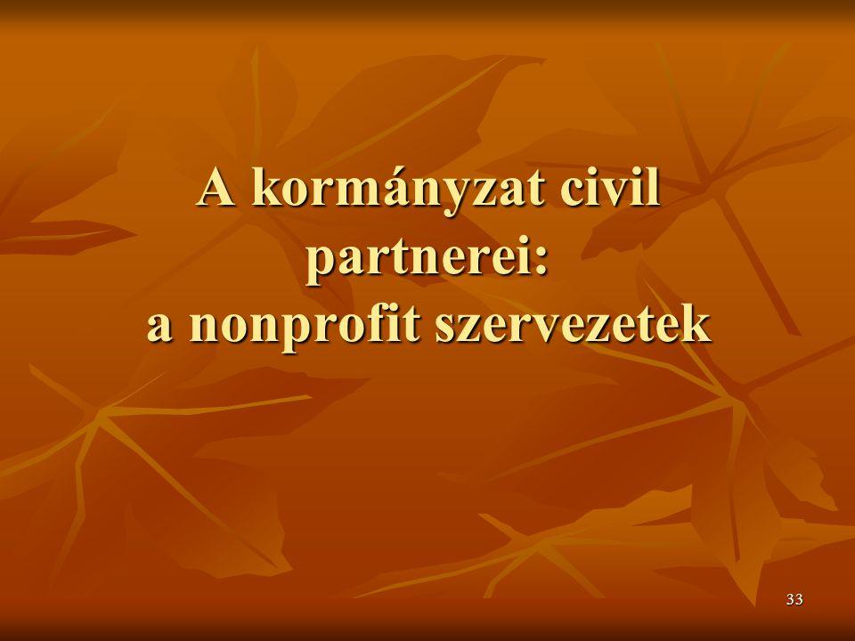 A kormányzat civil partnerei: a nonprofit szervezetek