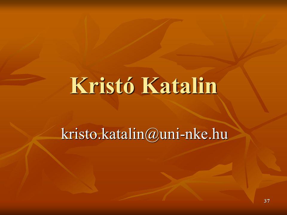 Kristó Katalin kristo.katalin@uni-nke.hu
