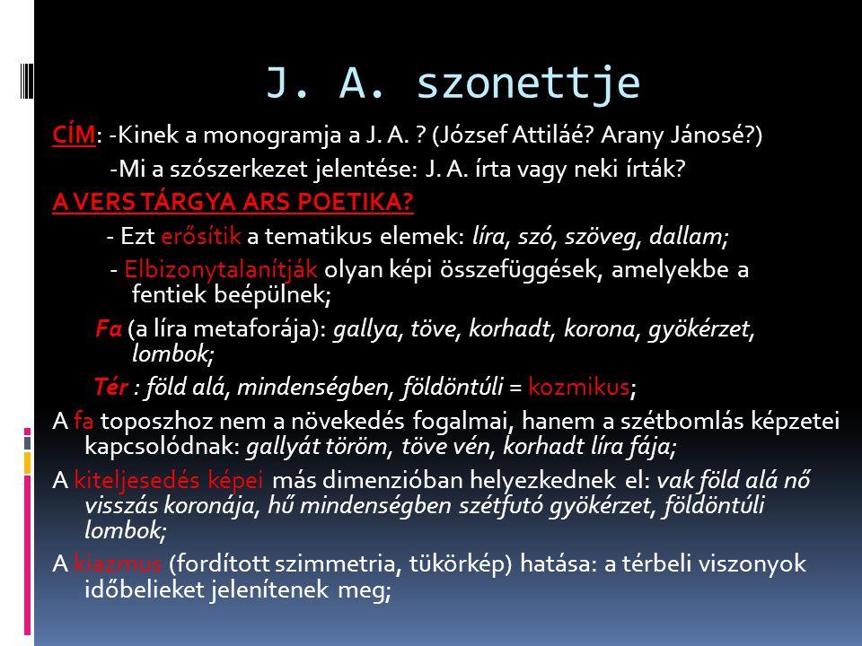 J. A. szonettje