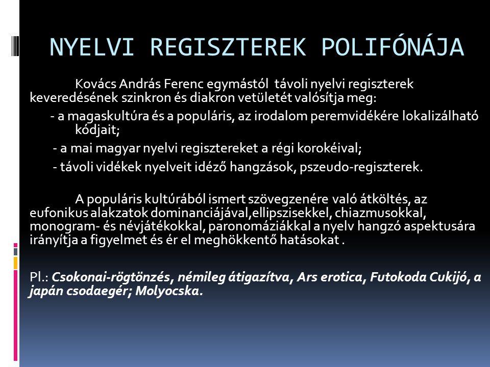 NYELVI REGISZTEREK POLIFÓNÁJA