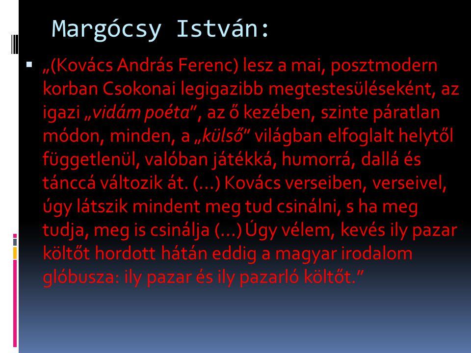 Margócsy István: