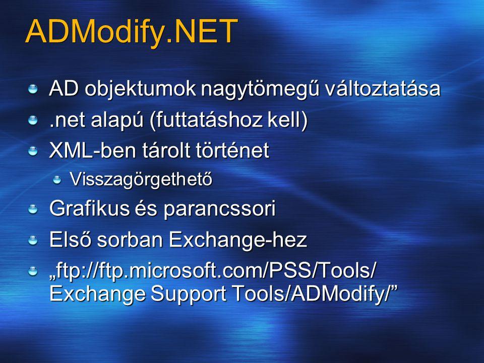 ADModify.NET AD objektumok nagytömegű változtatása