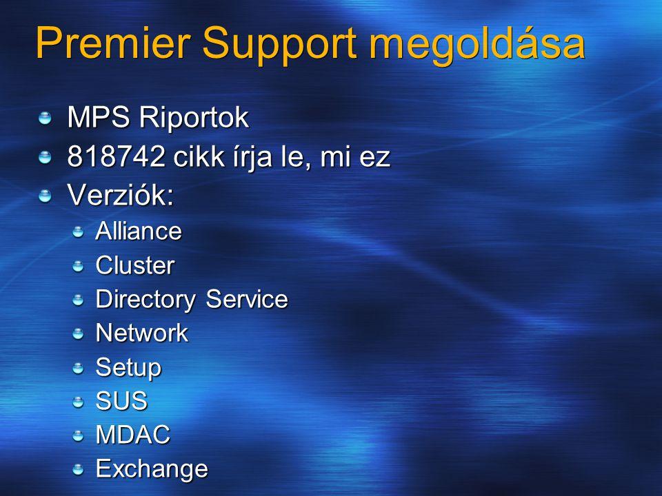 Premier Support megoldása