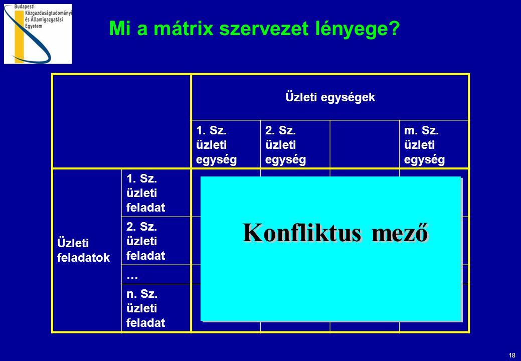 Mi a mátrix szervezet lényege