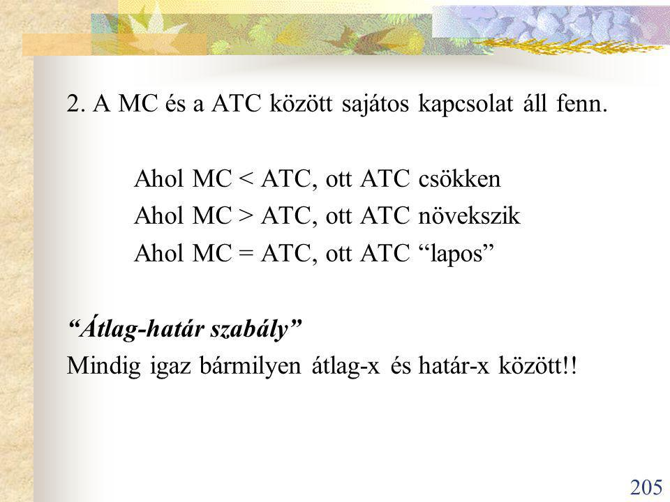 2. A MC és a ATC között sajátos kapcsolat áll fenn.