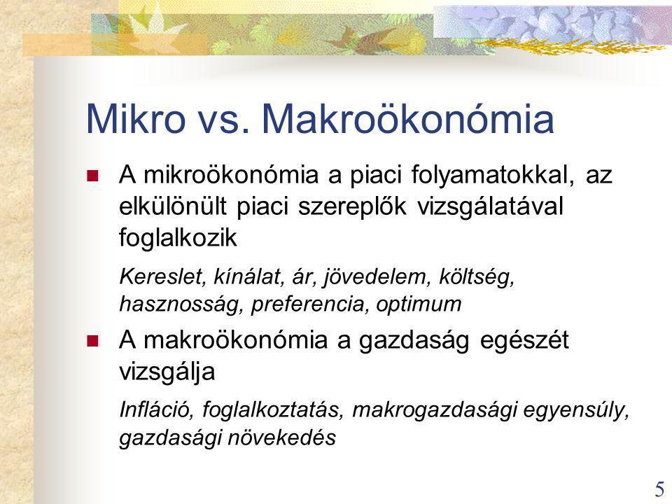 Mikro vs. Makroökonómia