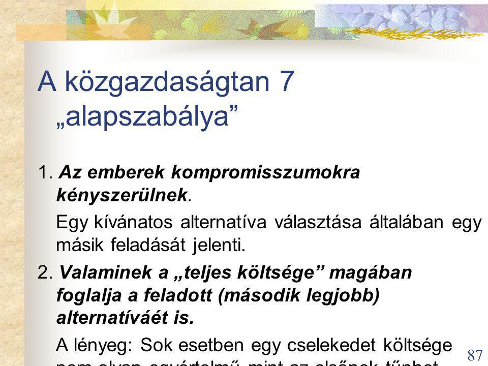 """A közgazdaságtan 7 """"alapszabálya"""