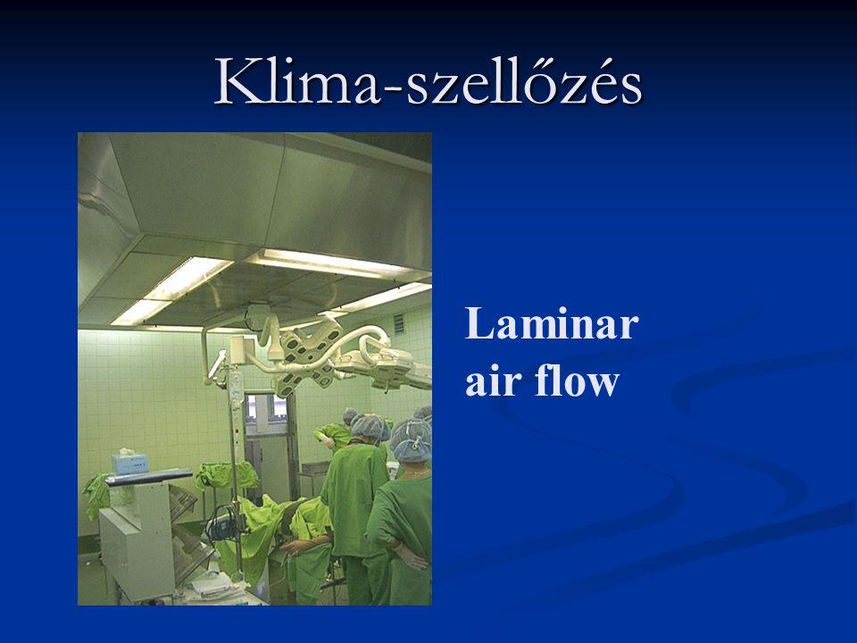 Klima-szellőzés Laminar air flow