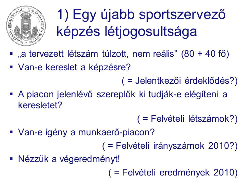 1) Egy újabb sportszervező képzés létjogosultsága