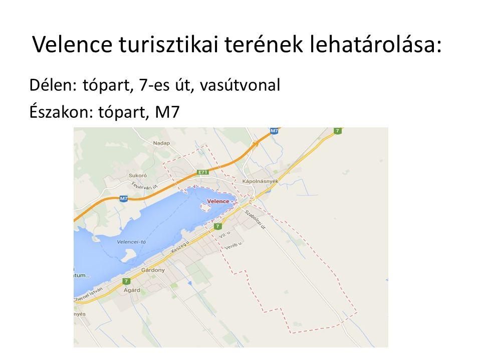 Velence turisztikai terének lehatárolása:
