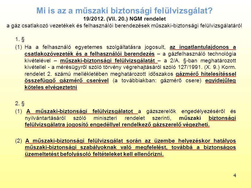 Mi is az a műszaki biztonsági felülvizsgálat. 19/2012. (VII. 20