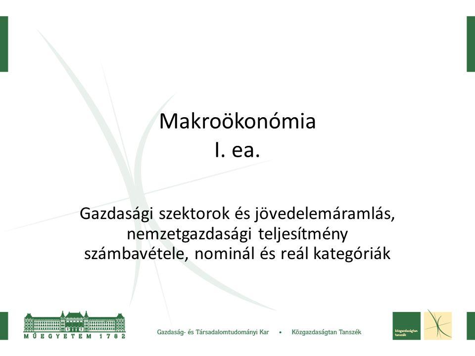 Makroökonómia I. ea.