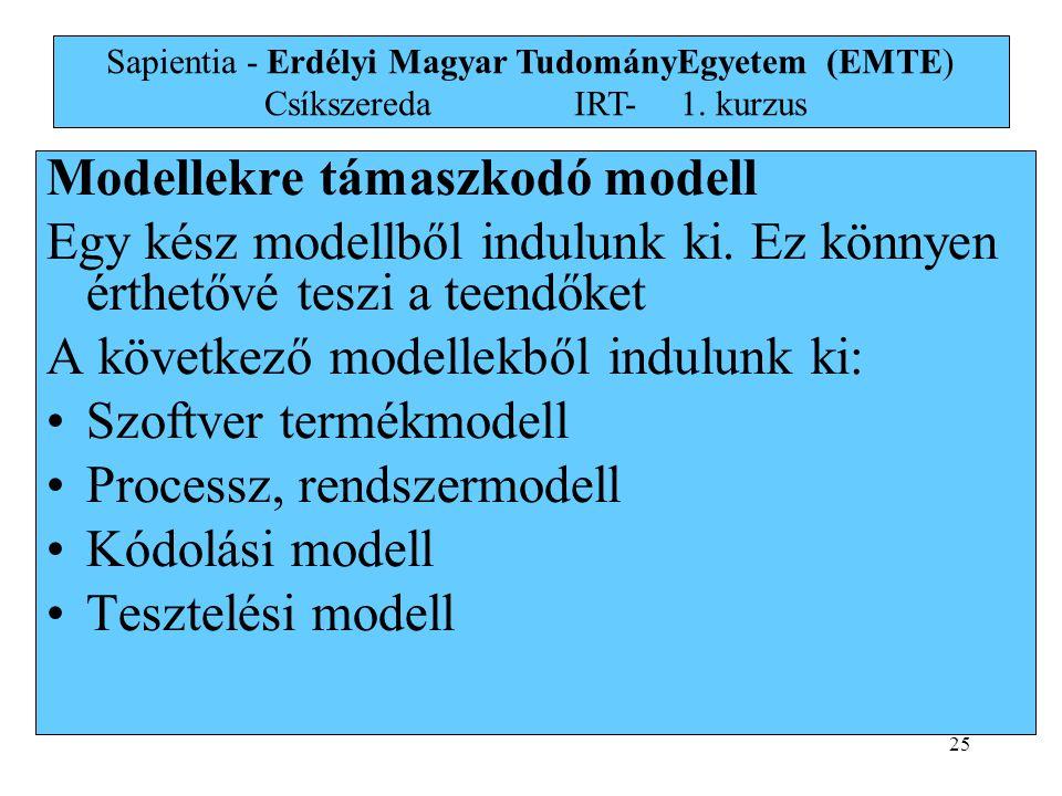 Modellekre támaszkodó modell