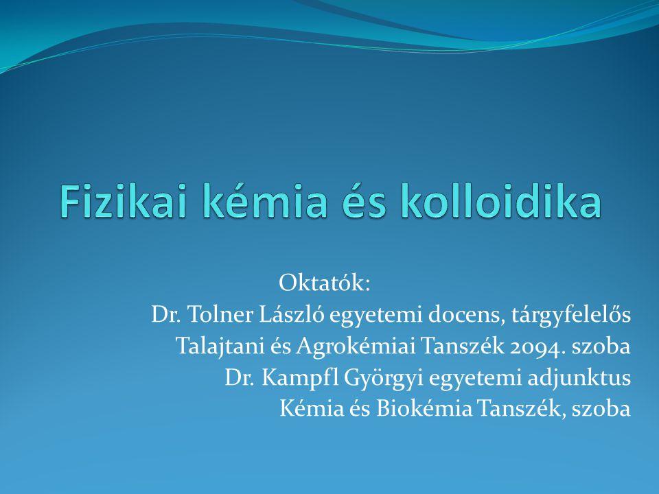 Fizikai kémia és kolloidika
