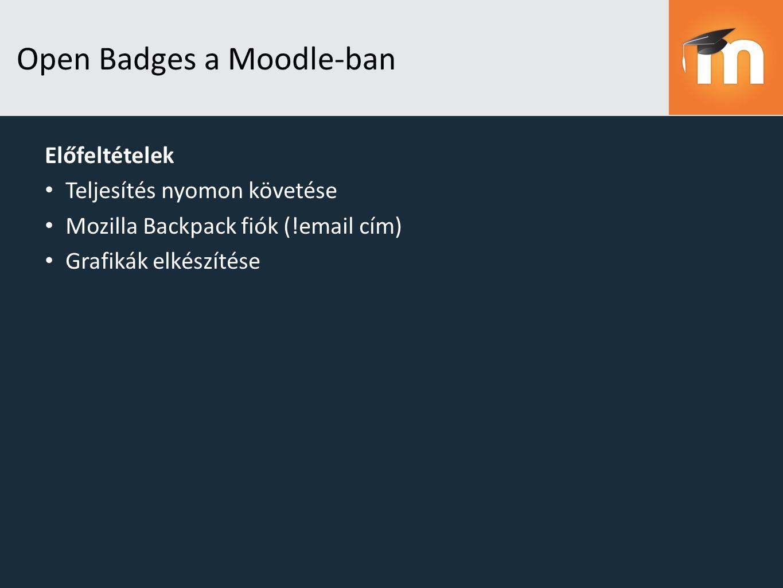 Open Badges a Moodle-ban