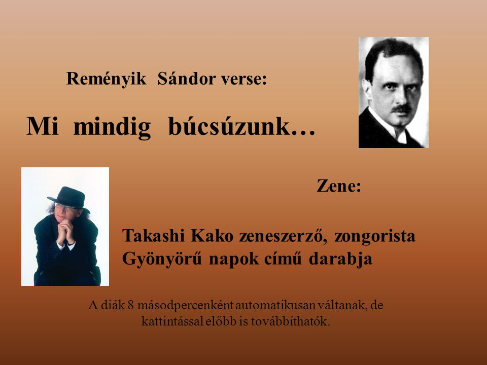 Reményik Sándor verse: