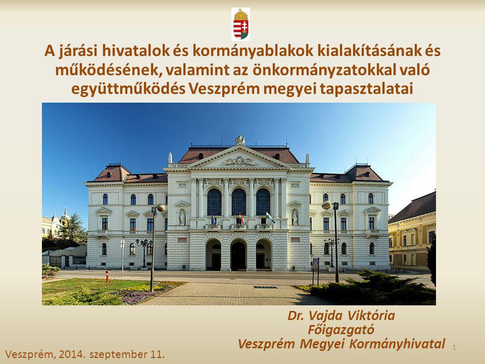 Dr. Vajda Viktória Főigazgató Veszprém Megyei Kormányhivatal