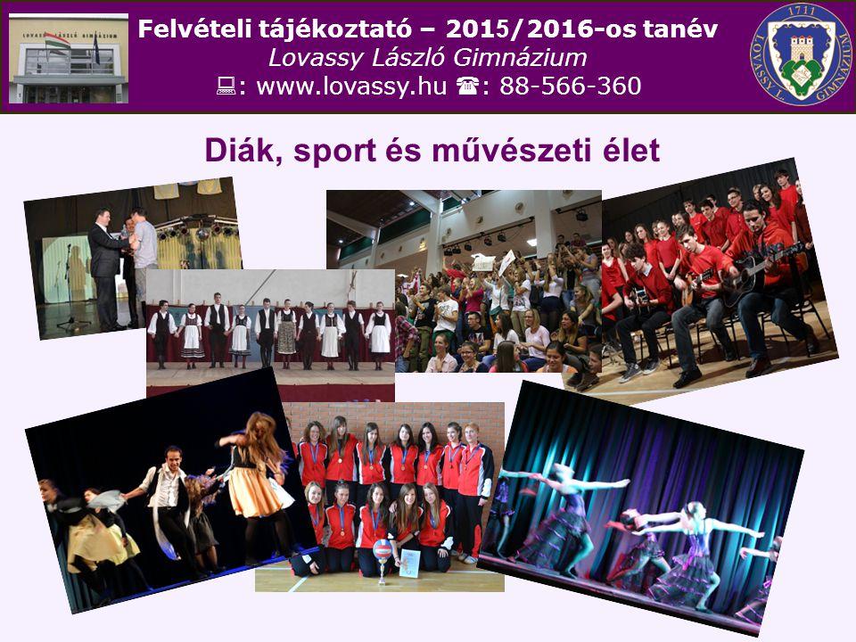 Diák, sport és művészeti élet