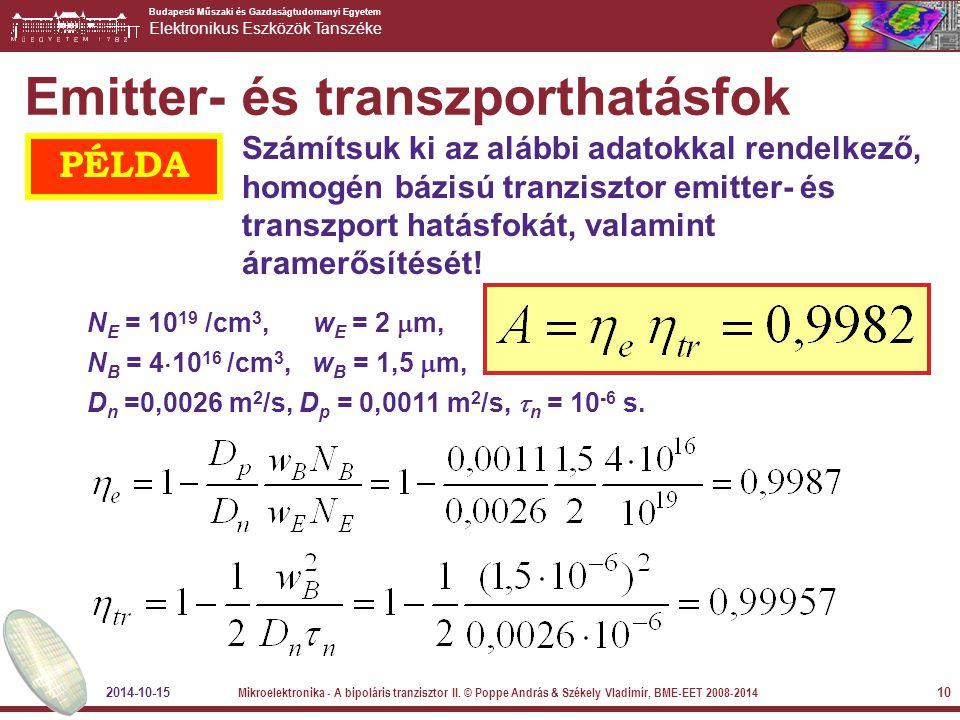 Emitter- és transzporthatásfok