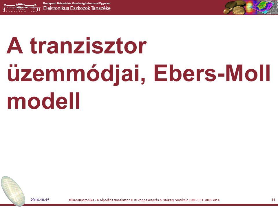 A tranzisztor üzemmódjai, Ebers-Moll modell