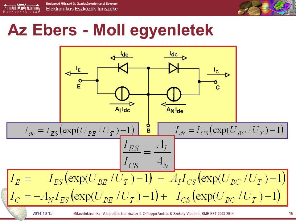 Az Ebers - Moll egyenletek
