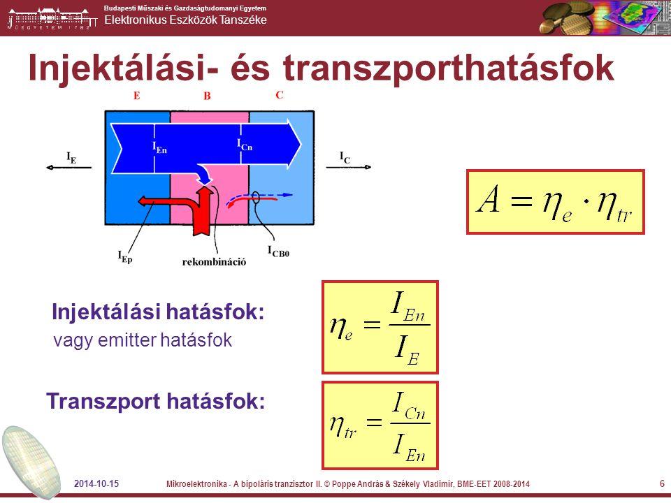 Injektálási- és transzporthatásfok