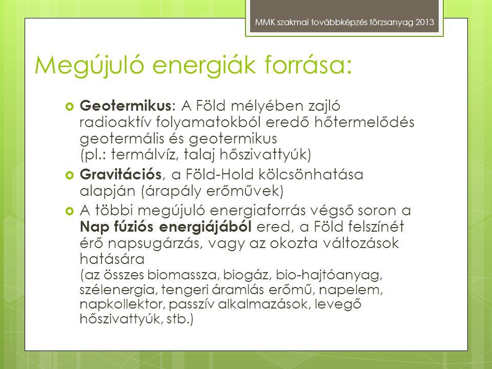 Megújuló energiák forrása: