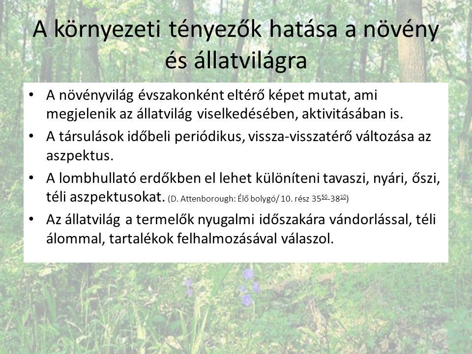 A környezeti tényezők hatása a növény és állatvilágra