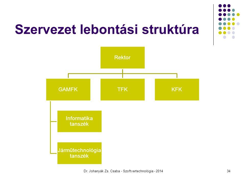 Szervezet lebontási struktúra