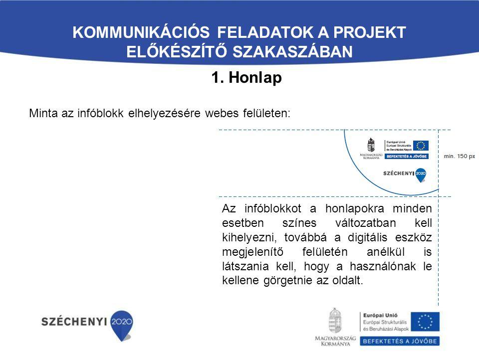 Kommunikációs feladatok a projekt előkészítő szakaszában