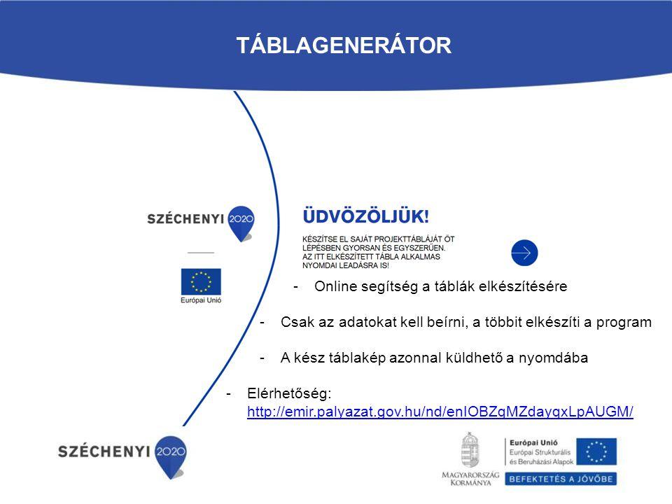 Táblagenerátor Online segítség a táblák elkészítésére