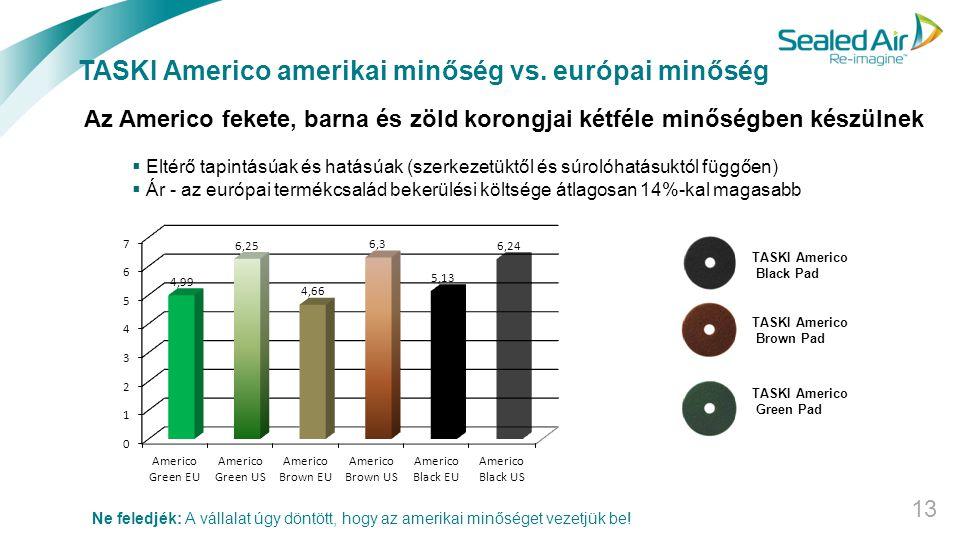 TASKI Americo amerikai minőség vs. európai minőség