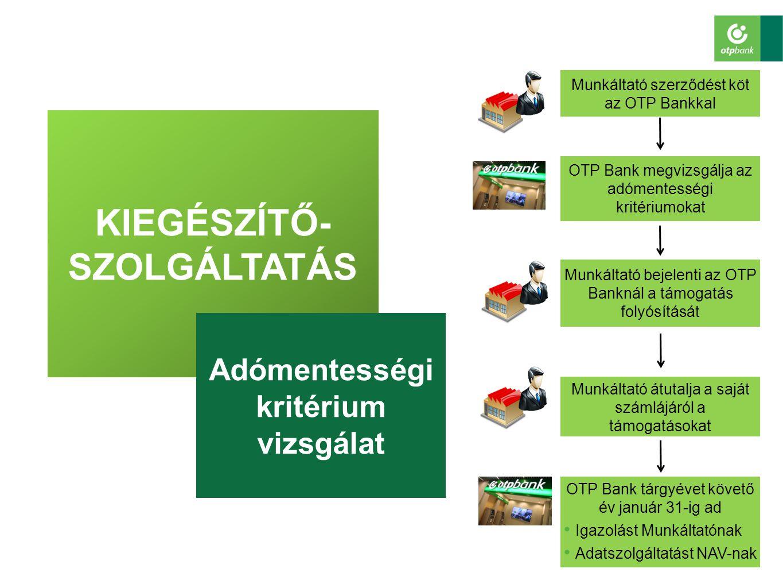 KIEGÉSZÍTŐ-SZOLGÁLTATÁS Adómentességi kritérium vizsgálat