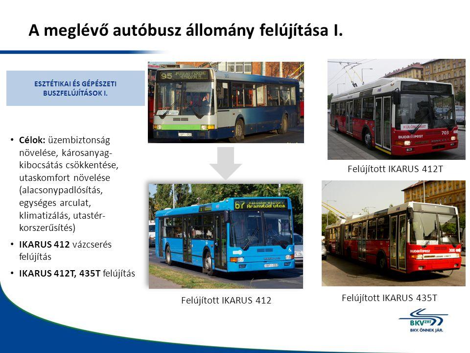 A meglévő autóbusz állomány felújítása I.