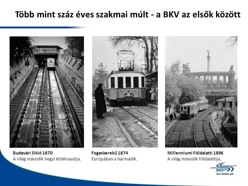 Több mint száz éves szakmai múlt - a BKV az elsők között