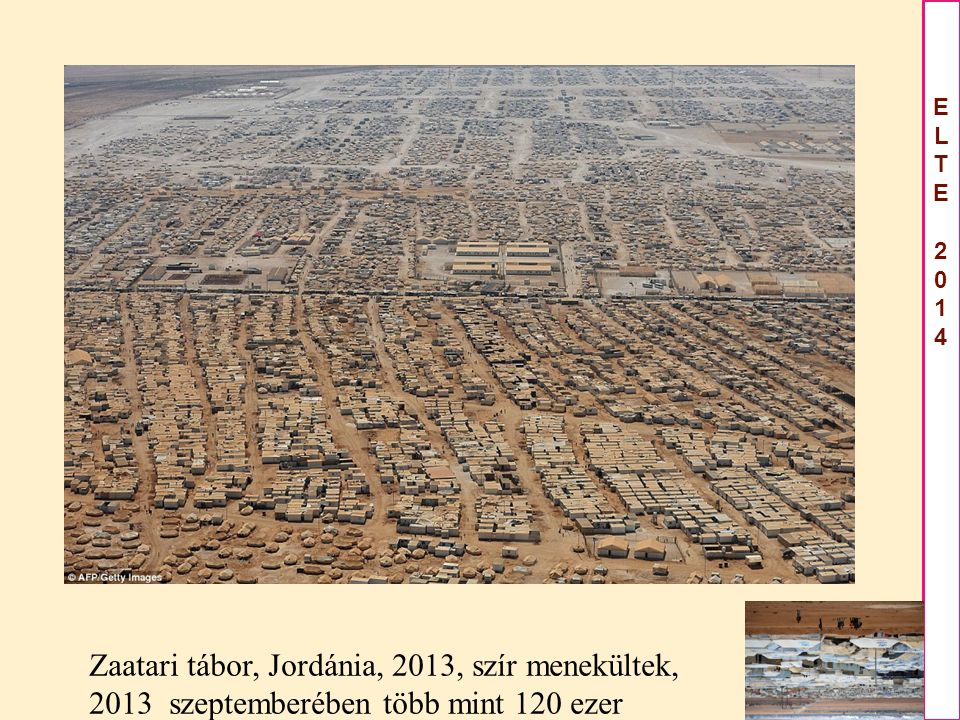 Zaatari tábor, Jordánia, 2013, szír menekültek,
