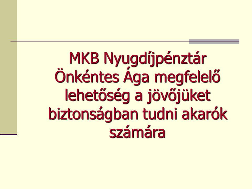 MKB Nyugdíjpénztár Önkéntes Ága megfelelő lehetőség a jövőjüket biztonságban tudni akarók számára