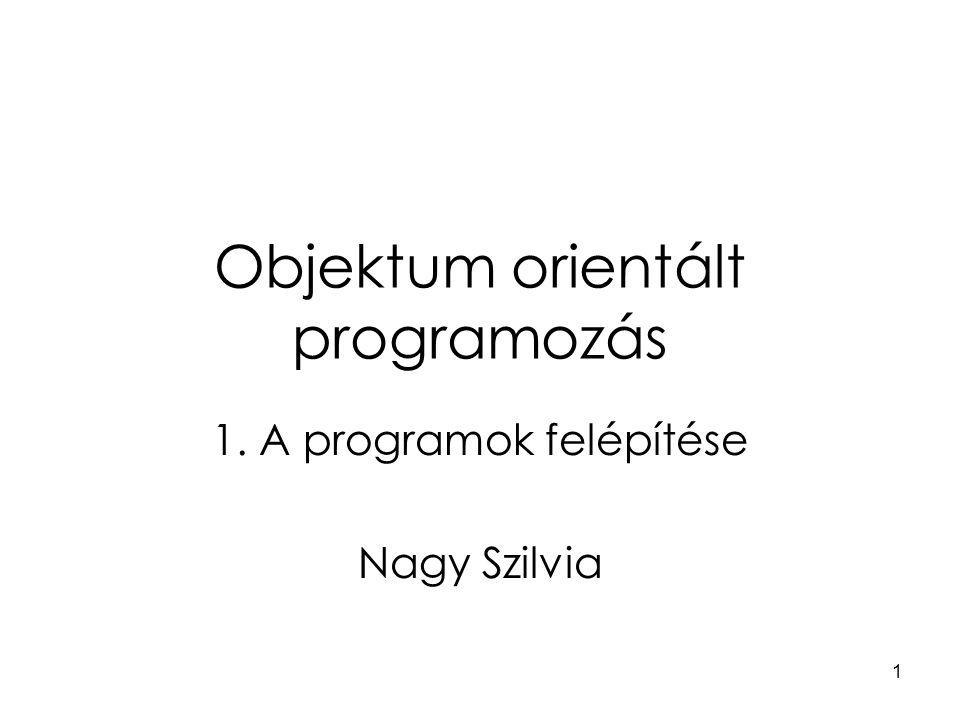Objektum orientált programozás