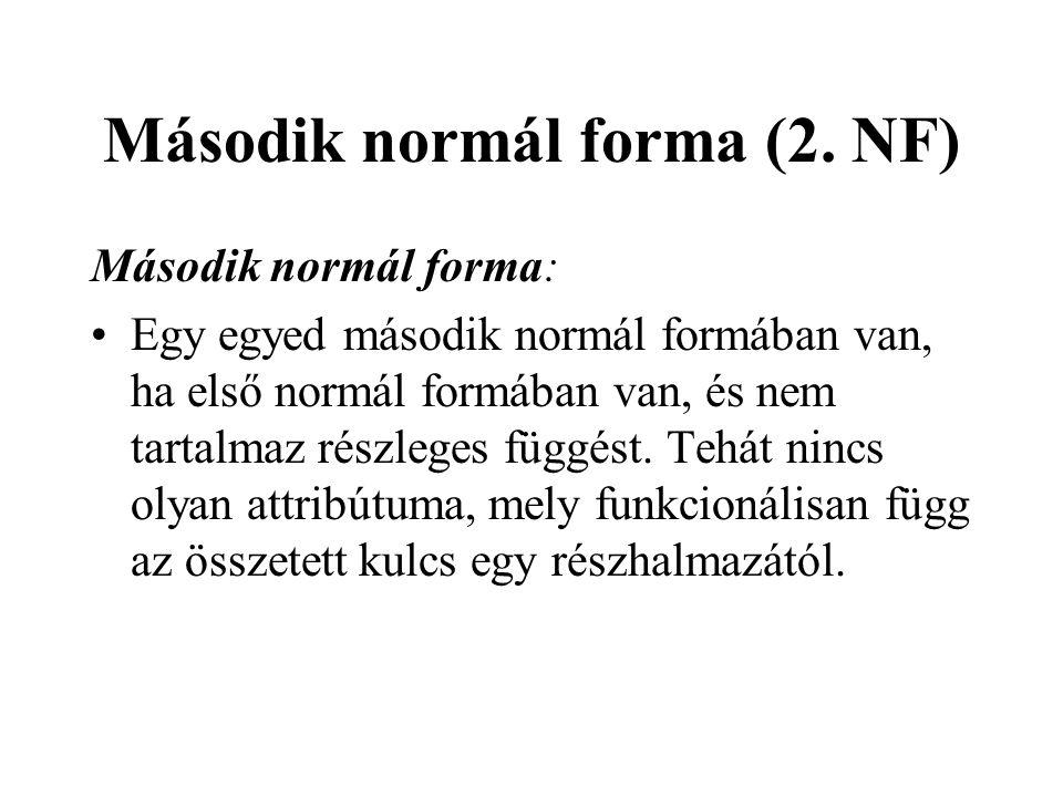 Második normál forma (2. NF)