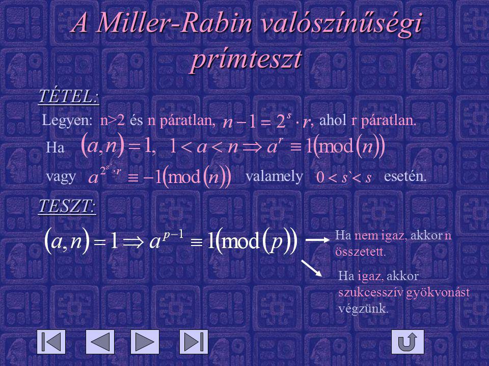 A Miller-Rabin valószínűségi prímteszt